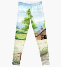 Country landscape Leggings