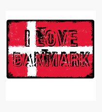 I love Danmark Photographic Print