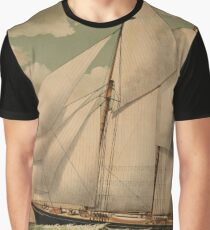 Vintage Schooner Yacht Illustration (1882) Graphic T-Shirt