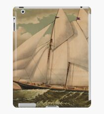 Vintage Schooner Yacht Illustration (1882) iPad Case/Skin