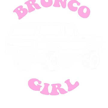 1978/79 Bronco Girl White/Pink Print by TheOBSApparel