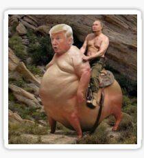 Putin reitet Trump Meme Sticker