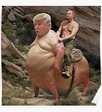Putin Rides Trump Meme Poster