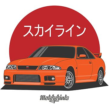 GT-R R33 (orange) by MotorPrints