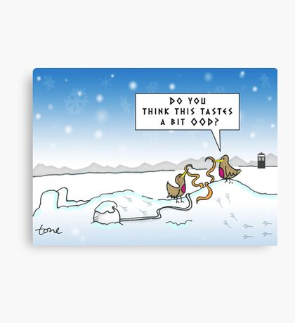 An Ood in Winter Canvas Print