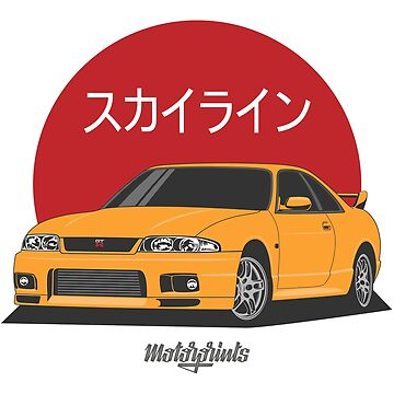 GT-R R33 (yellow) by MotorPrints