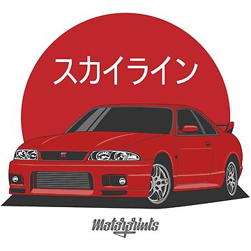GT-R R33 (red) by MotorPrints