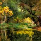 Quite Pond with Trees by Walter Colvin