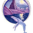 Moonlit Moorea Humpback Whale by Andrea England