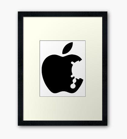 Dalek Apple White  Framed Print