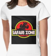 Safari Zone Pokemon  Women's Fitted T-Shirt