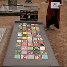 My Funeral Monument- ceramic tiles- I'll be back by Cathie Brooker