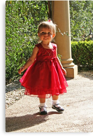 Little Girl In Red by Evita