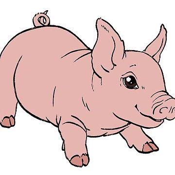 Juguetón bebé cerdo de comfykindness