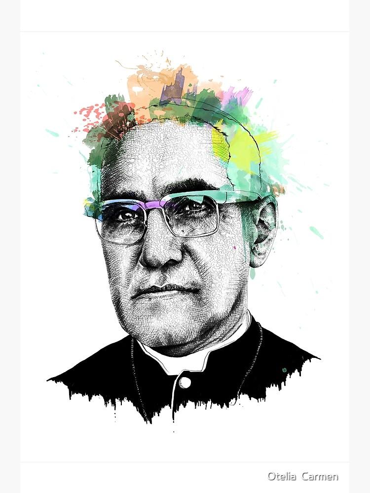 Arte del retrato de Oscar Romero de oteliacarmen