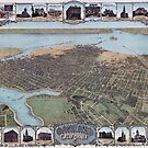 Vintage map of Oakland California circa 1900 by Glimmersmith