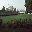 St Stephens and Cathedral in distance Beauvais France 19840827 0066  by Fred Mitchell