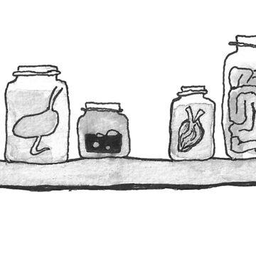 Guts in Jars by mesbensen