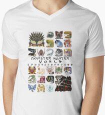 Monster Hunter World Men's V-Neck T-Shirt