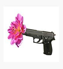 """Enough Flower Gun - Anti Gun Violence - """"Enough"""" Engraving Photographic Print"""