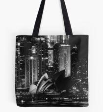 Sydney City Skyline B&W Tote Bag