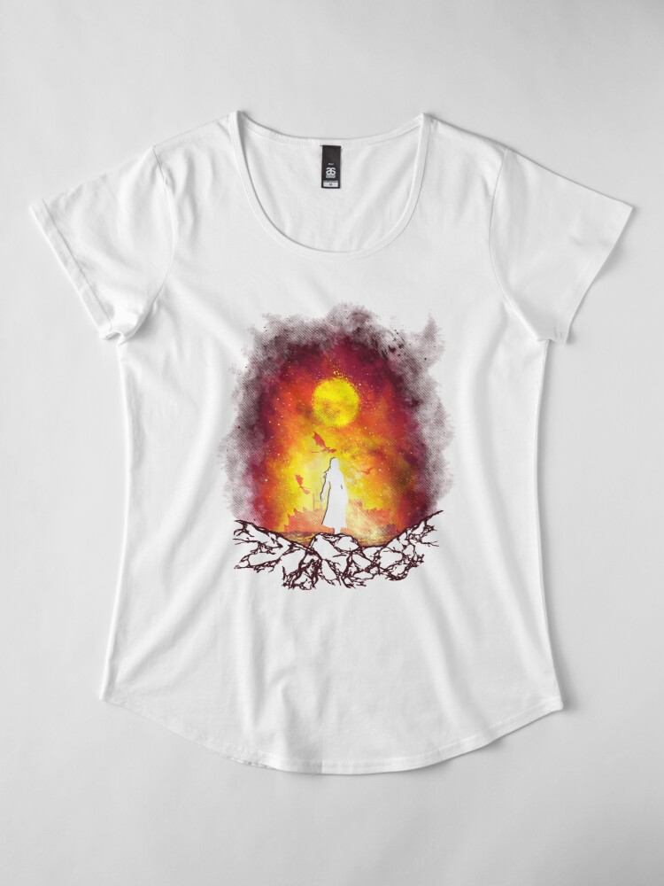 Alternate view of Born Of Fire Premium Scoop T-Shirt