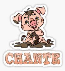 Chante Piggy Sticker