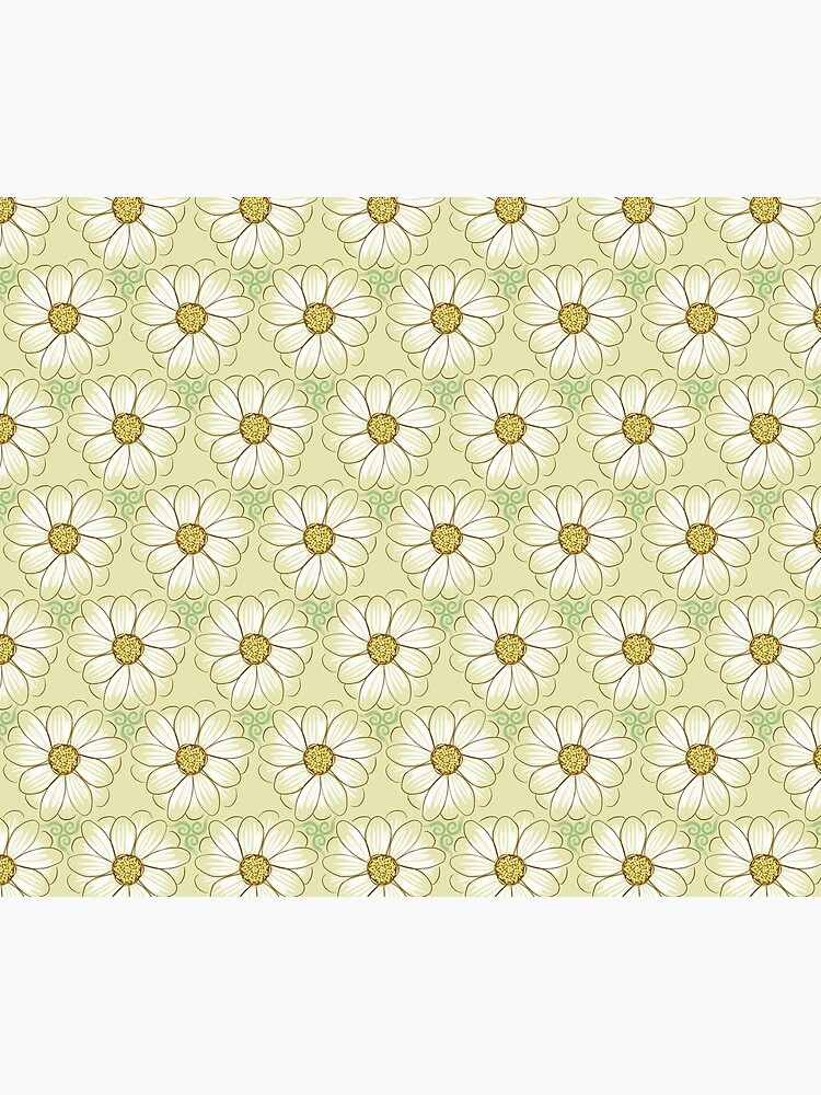 Doodle Daisies Cream Pattern by jentle