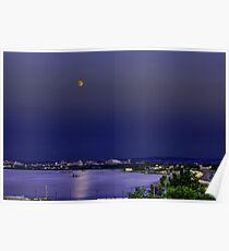 Super Moon Above Syracuse, NY Poster