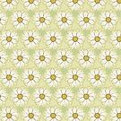 Doodle Daisies Cream Pattern by Jen Toal
