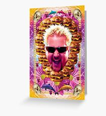 guy celebrity chef fieri Greeting Card
