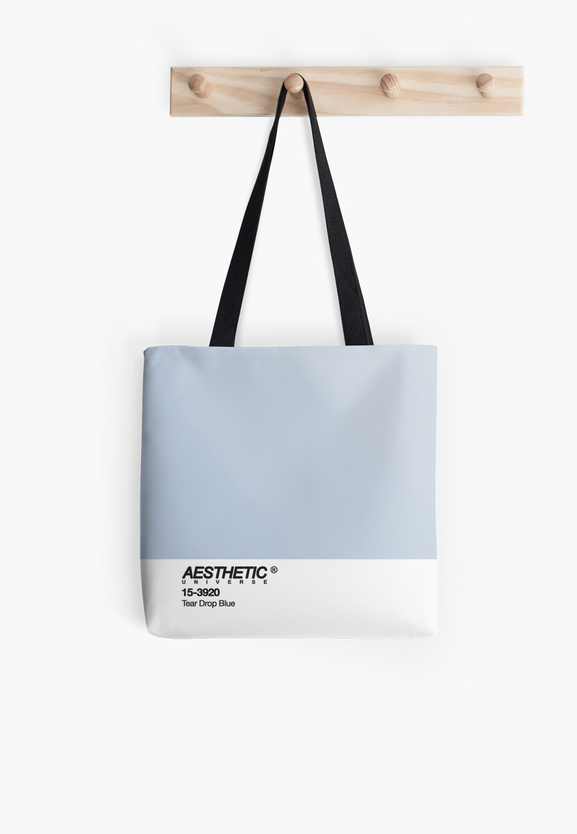 AESTHETIC UNIVERSE TEAR DROP BLUE DESIGN Tote Bag