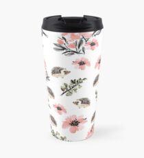 Hedgehog Florals Travel Mug