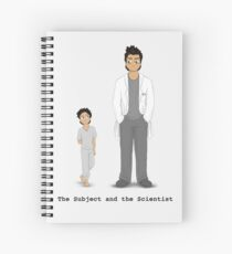 The Subject and the Scientist (Hopeful Look) Spiral Notebook