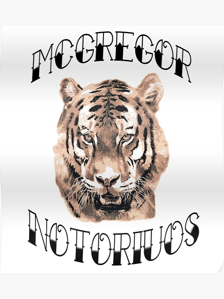 Conor Mcgregor Notorious Tiger Tattoo Poster