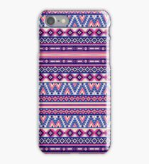 Pink and Blue Andes Aztec Pattern iPhone Case/Skin
