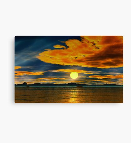 Beyond the Painted Sea Canvas Print