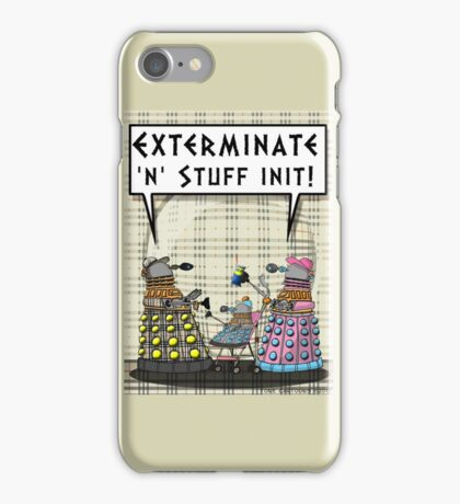 Chav Daleks iPhone Case/Skin