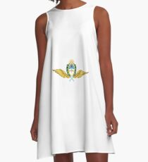 The Argentine Air Force Emblem A-Line Dress