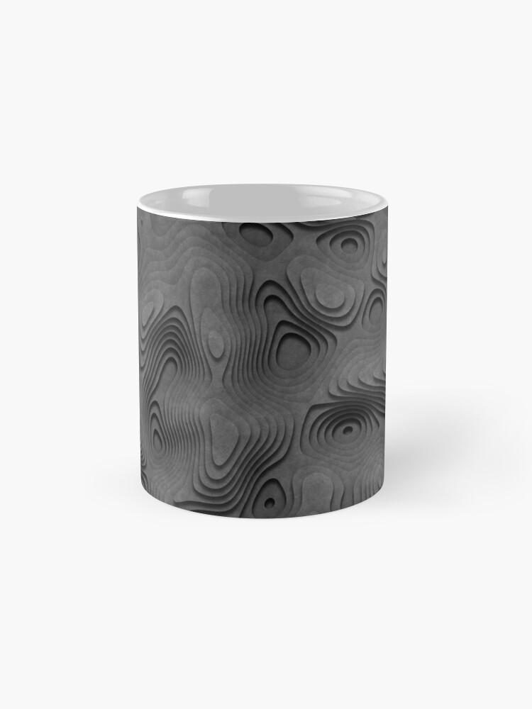Alternate view of Grey Topographic Landscape Mug