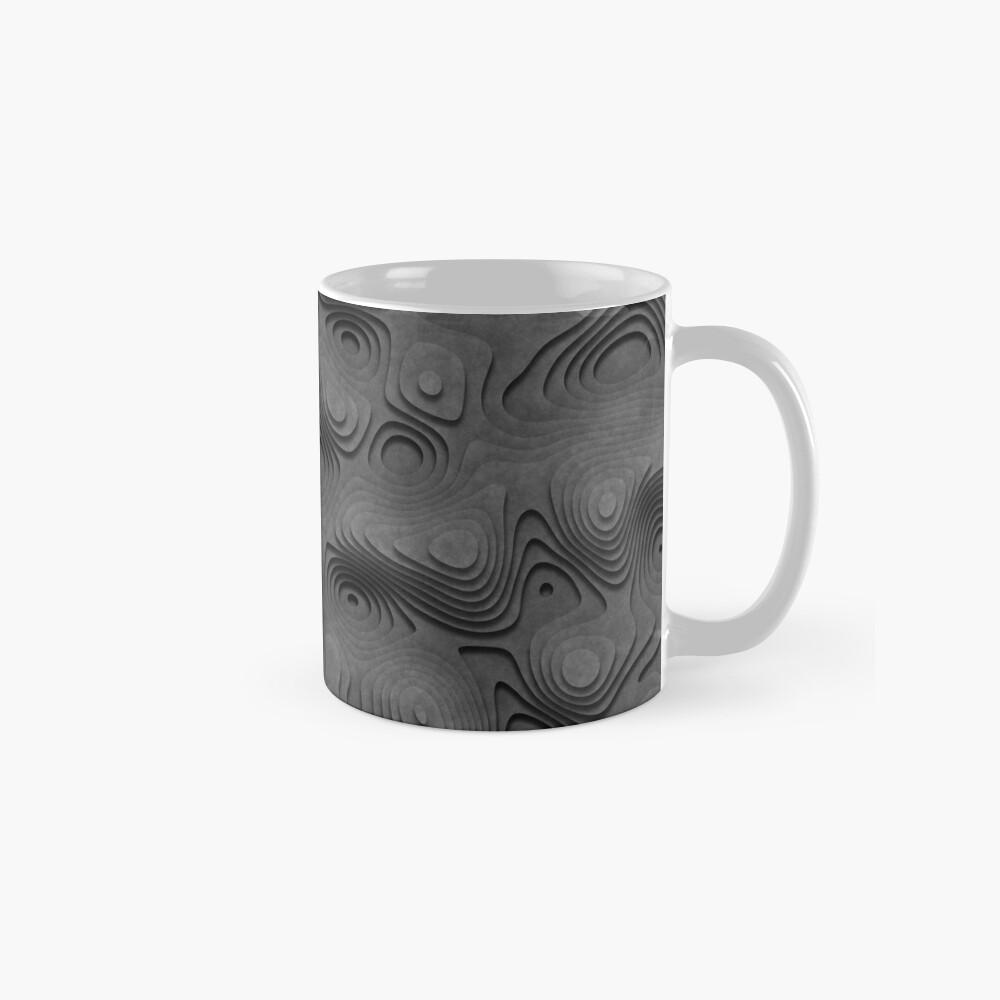 Grey Topographic Landscape Mug