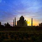 Taj Sunset. by bulljup