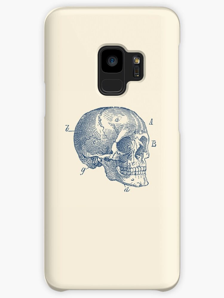 Skull Diagram Vintage Anatomy Cases Skins For Samsung Galaxy By
