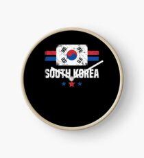 South Korea Flag Korean Apparel Clock