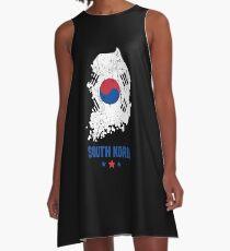 South Korea Flag Korean Apparel A-Line Dress