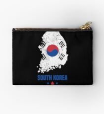 South Korea Flag Korean Apparel Studio Pouch
