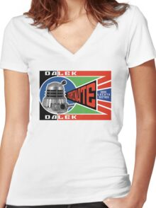 Dalek Deconstructivism Women's Fitted V-Neck T-Shirt