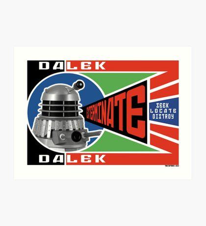 Dalek Deconstructivism Art Print