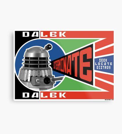 Dalek Deconstructivism Metal Print