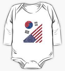 South Korea Flag Korean American Apparel One Piece - Long Sleeve